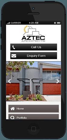 Architect mobile site we built