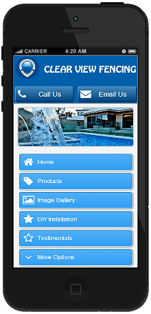 Pool Fencing mobile site we built
