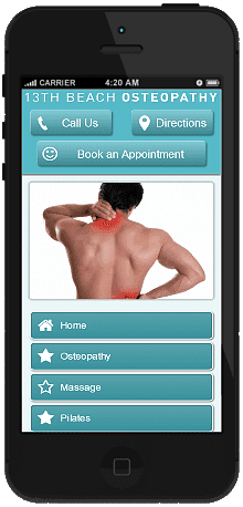 Osteopathy mobile site we built